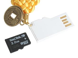 Доба.ру - купить Ultra slim Card Reader Micro SD/ T Flash